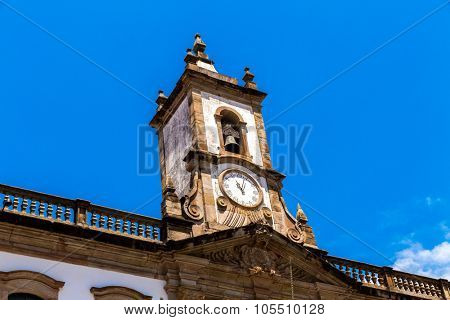 The old Vila Rica Jail in Ouro Preto, Brazil