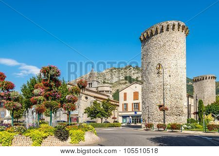 Stone Towers In Sisteron.