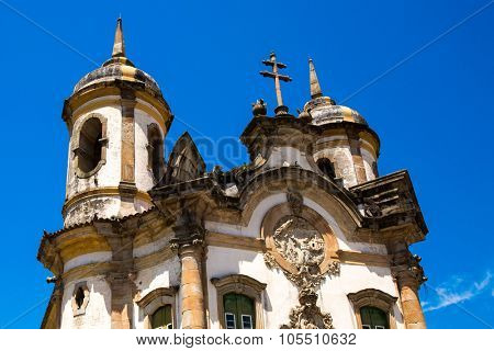 Church of Saint Francis of Assisi in Ouro Preto, Minas Gerais, Brazil