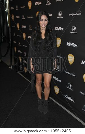 LOS ANGELES - OCT 19:  Vanessa Hudgens at the Guitar Hero Live Launch Party at the YouTube Space LA on October 19, 2015 in Los Angeles, CA