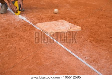 Measuring The Base Distance Of A Baseball Field