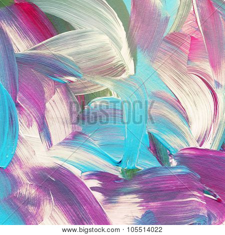 Colorful abstract watercolor acrylic painting