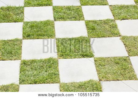 Grass Between Stones, Block Paving
