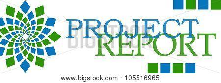 Project Report Green Blue Element Horizontal