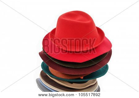 Stacked fedora hat