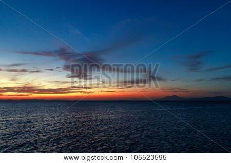 Nicaragua Lake View At Sunshine From Ometepe Island