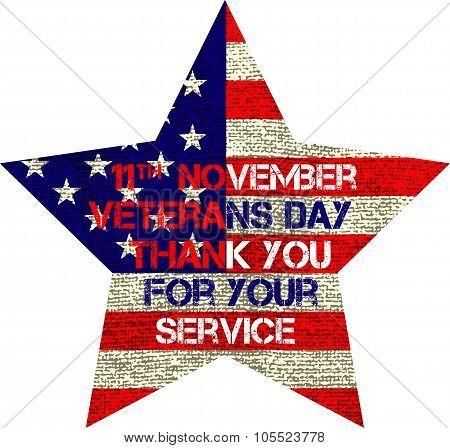 veterans day flag