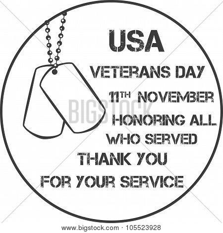 veterans day sign