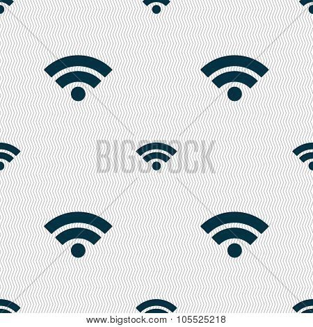 Wifi Sign. Wi-fi Symbol. Wireless Network Icon. Wifi Zone. Seamless Abstract Background