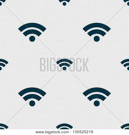 Wifi Sign. Wi-fi Symbol. Wireless Network Icon. Wifi Zone. Seamless Abstract Background