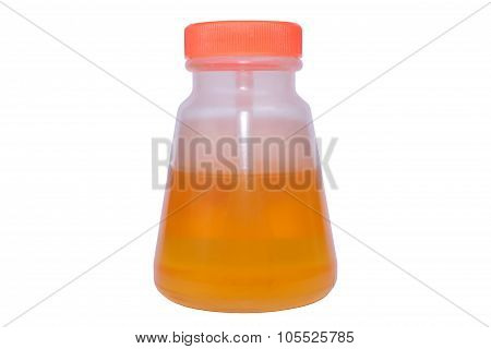 Glue water on isolated background