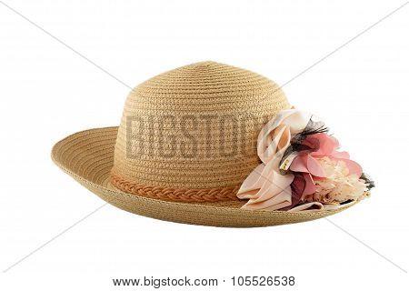 beach hat on white background
