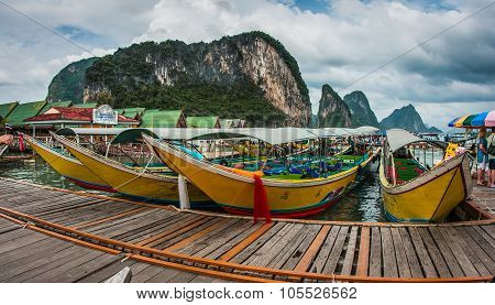 Long Tail Boats, Muslim Village, Thailand