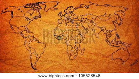 Ivory Coast Territory On Actual World Map