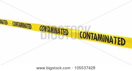 Contaminated Tape Line At Angle