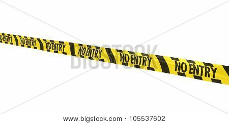 Yellow And Black Striped No Entry Tape Line At Angle