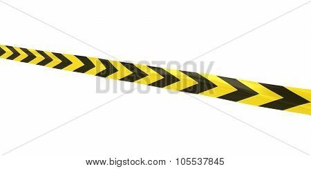 Yellow And Black Arrows Tape Line At Angle
