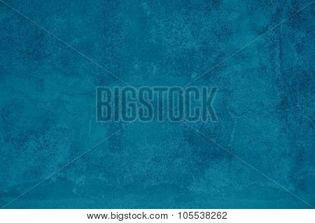 Grunge Background Of Turquoise Stone Wall