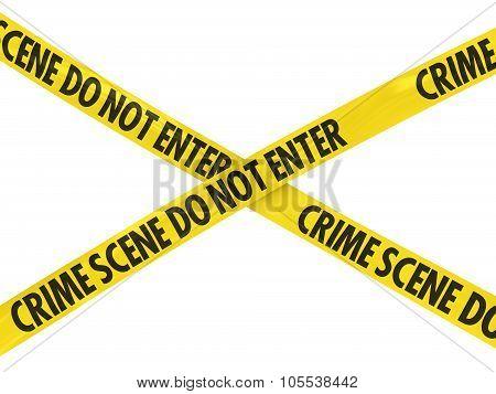 Crime Scene Do Not Enter Barrier Tape Cross