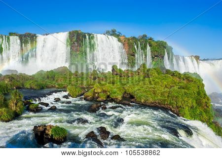 Iguazu Falls, On The Border Of Argentina, Brazil, And Paraguay