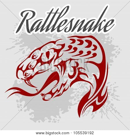 Rattlesnake -  vintage vector artwork for wear