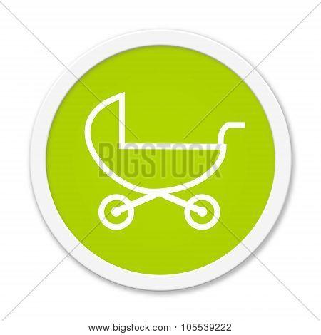Round Button Showing Stroller