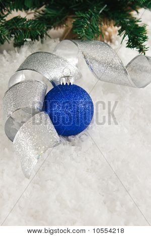 Blue And Silver Snowy Christmas