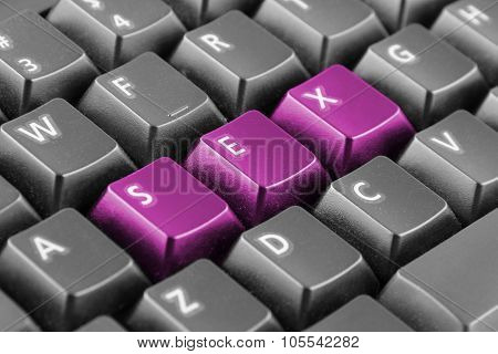 Word Sex Written With Keyboard Buttons