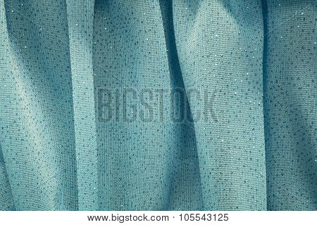 Turquoise Blue Sheer Curtains with Glitter