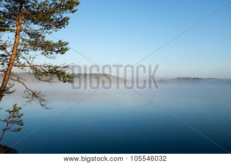 Beautiful lake view in Finland.