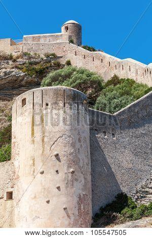 The Citadel At Bonifacio. Corsica Island, France