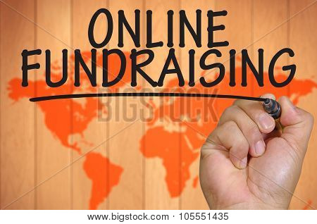 Hand Writing Online Fundraising