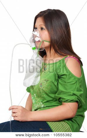 Woman With Oxygen Mask