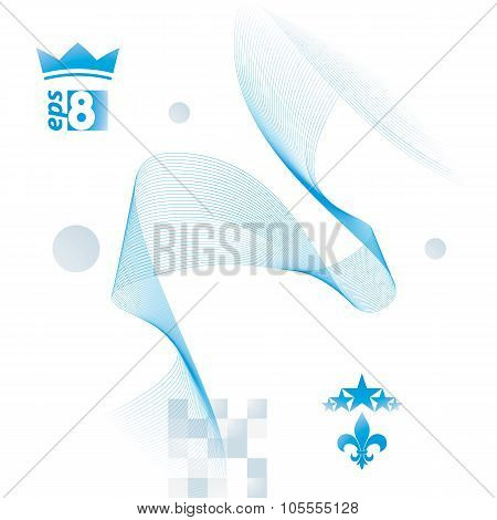 Light Blue Vector Soft Composition, 3D Wavy Decorative Ribbon. Abstract Sophisticated Background Wit