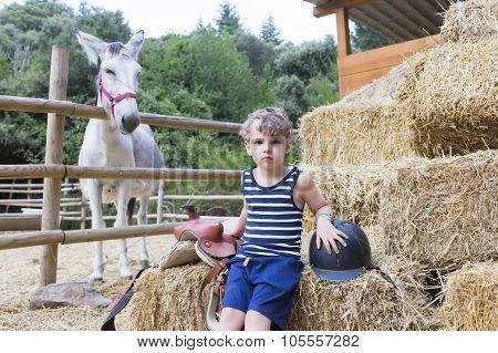 Boy Rider Portrait