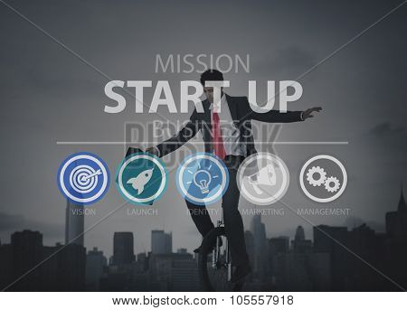 Startup New Business Strategy Marketing Success Concept