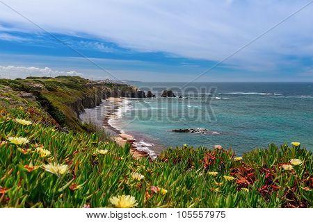 Seascape Beach Village Milfontes. In Portugal Area Alentejo.