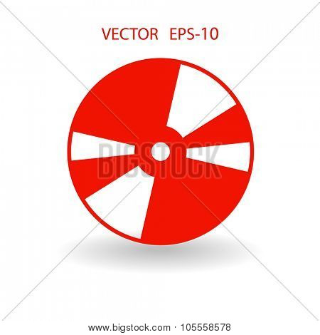 Flat  icon of DVD disc