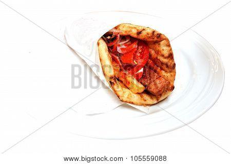 Souvlaki On A Plate