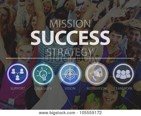 Success Growth Accomplishment Achievement Goal Concept