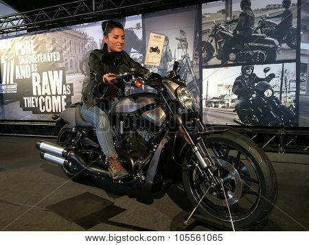 FAAKER SEE, AUSTRIA - SEPTEMBER 10: Custom motorcycles are shown at European Bike Week on September 10, 2015 in Faaker See, Austria. The event is billed as the largest European motorcycle event.