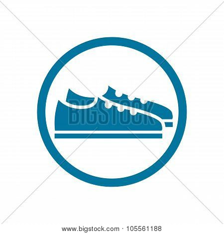 Footwear Icon, Vector Shoes Pictogram.