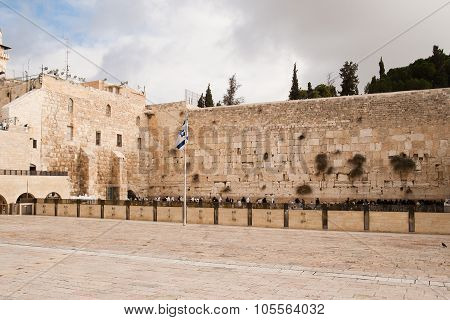 Wailing Wall, Also Named Western Wall Or Kotel