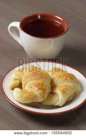 Fresh Croissants And Tea