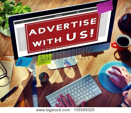 Advertise Ad Digital Online Marketing Concept