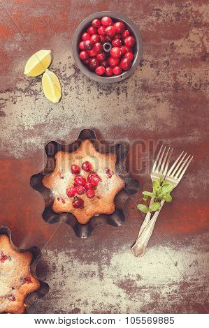 Cranberry Lime Tart