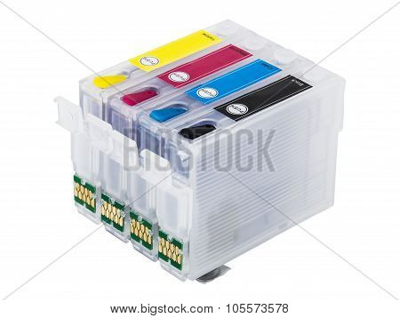Empty Refillable cartridges For Colour Inkjet Printer