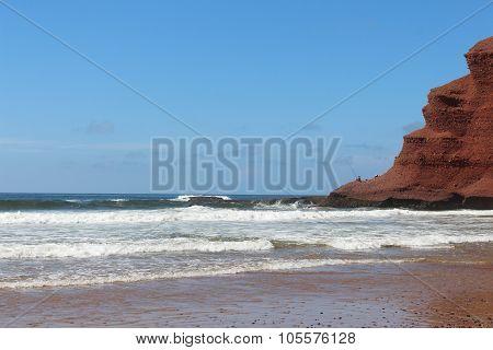 Lezgira beach in Morocco.