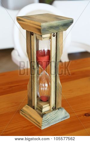 Hourglass On The Table