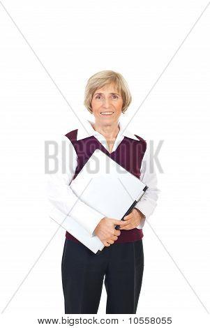 Senior Businesswoman With Laptop